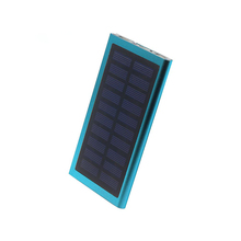 New product mobile solar power bank, 10000mah with flashlight power supply, usb chargers mobile power charger