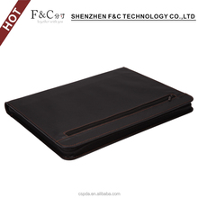 Alibaba hot selling leather zippered portfolio for ipad/2/3/4/5/6,for ipad mini /2/3/4