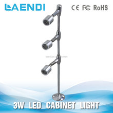 lamp head up & down standing display cabinet led Lights for jewelry/shop