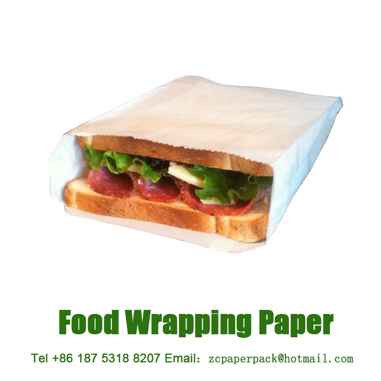 Custom 50-110gsm Food Safe Greaseproof French Fries / Fried Chickens / Burger / Fast Food Paper Bags with PE Coated