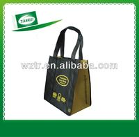 Recycle custom printing eco friendly non woven shopping bags with logo