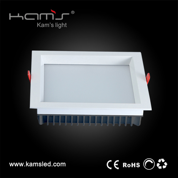 90 degrees 7W sqaure shaped LED SMD downlight for hall project lighting