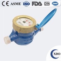 Hot sale factory price XDO-LXS-15-50E made in china residential multi jet dry type portable water meter