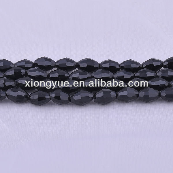 wholesale black color olive shape Beads crystal beads