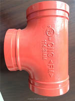 FM /UL Approved Ductile Iron Pipe Fitting,grooved tee