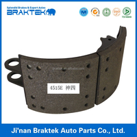Auto parts semi-trailer brake shoe and brake lining assembly 4515E