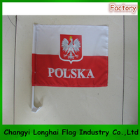 Promotional custom window flags for car