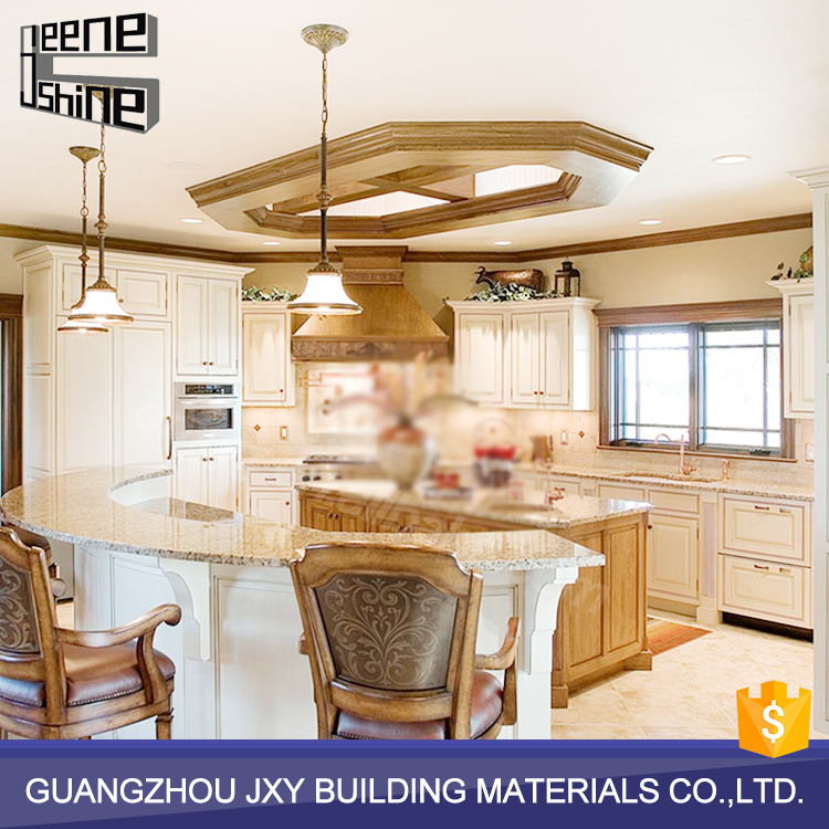 China factory supply modern modular plywood kitchen for Solid wood modern kitchen cabinets