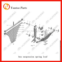 yutong bus spring leaf assy and leaf only for van hool bus parts