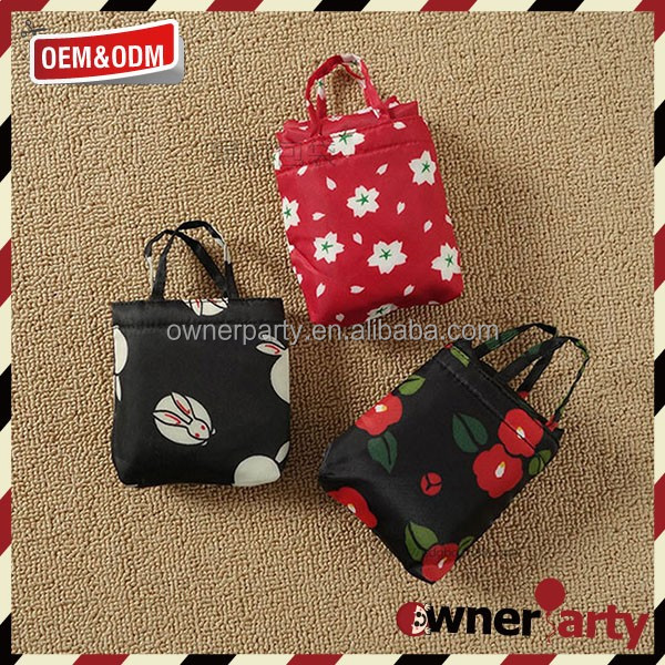210D Cute Design Pocket Bag Grocery Used Tote Foldable Bag