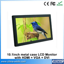 10 inch real 1080P high definition vga dvi input video display cheap 12v monitors for supermarkets