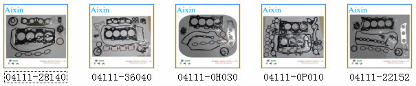 AIXIN Auto Engine Gasket Kit/Gasket Set for TOYOTA Corolla OEM 04111-22152