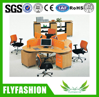 Wooden Modern Popular Office Workstation For 4 Person
