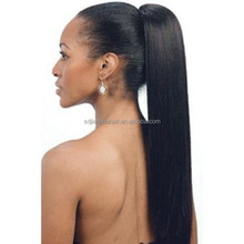 Top Quality Virgin Remy Brazilian Human Hair Ponytail Clip in Hair Wrap Around Easy Hair Piece