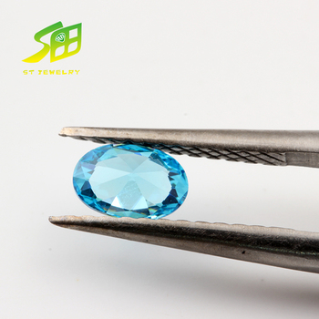 4*6mm oval cut blue zircon stone price per carat for jewelry