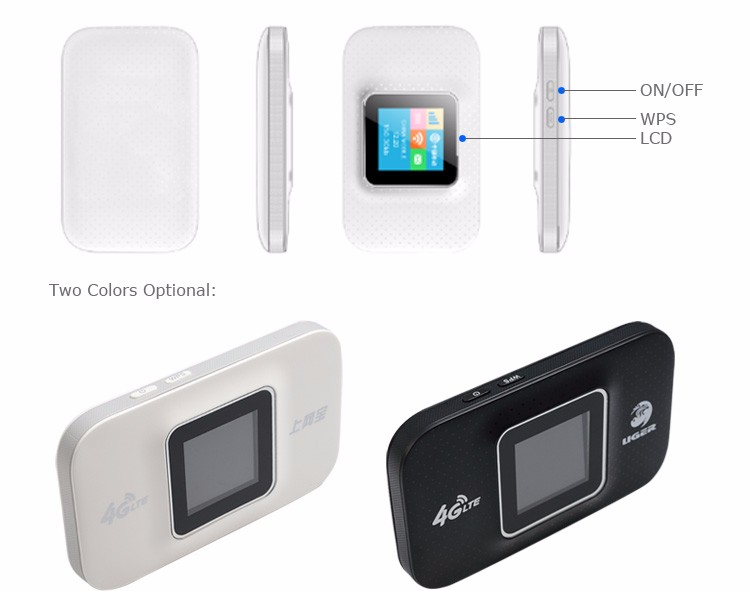 Durable in use Portable wifi 4g lte router wifi device with sim card slot