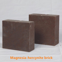 China manufacturer types of high heat resistant fired magnesia iron spinel refractory fire bricks for cement klin for sale price
