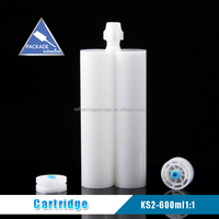 KS-2 600ml 1:1 a b epoxy glue and silicone sealant empty cartridge