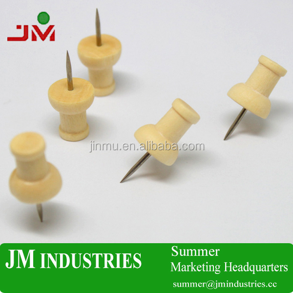 Wholesaled Wooden Handle Drawing Push Pin