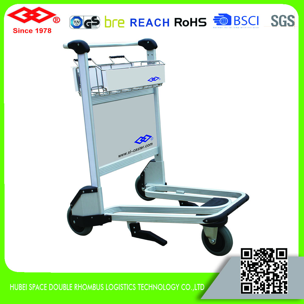 Aluminium alloy airport luggage trolley baggage trolley hand cart