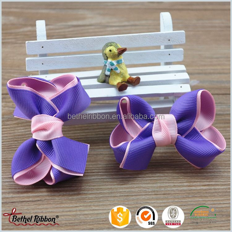 China supplies elegant letter printed hair bows