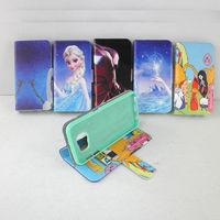 Cute cartoon leather stand wallet mobile phone case for samsung galaxy s6 edge s6 s5 s4 s3 wholesale
