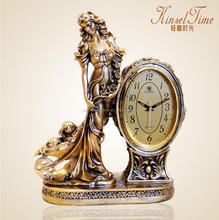 Porcelain Decorative Classic luxury desk clock