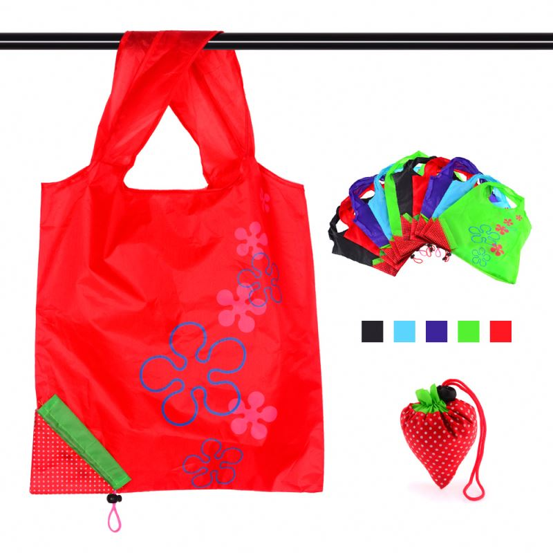 Large 190T Polyester Eco Friendly Shopping Bag With Elastic Band