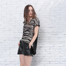 Women summer plus printed blouses oversize t shirt