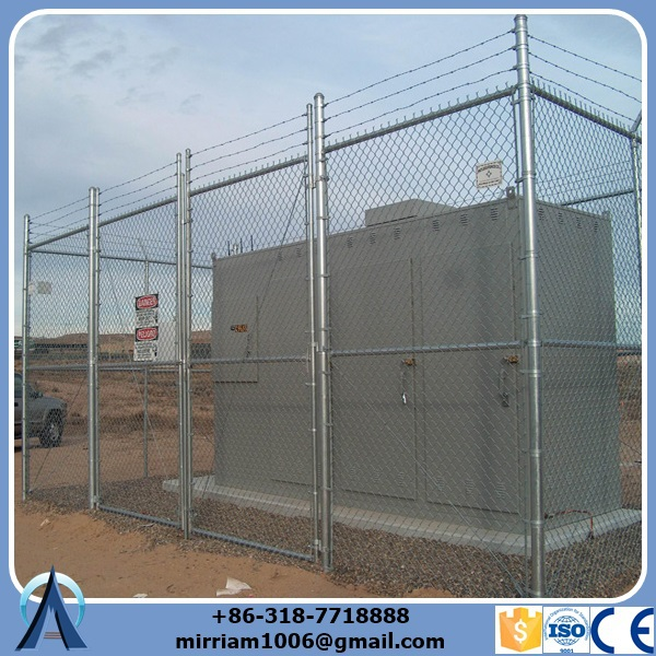 5 foot plastic coated stainless steel chain link fence