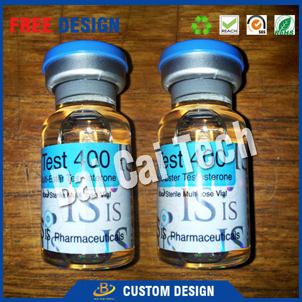 Free sample top quality cheap custom test steroids pharmaceutical vial label and box