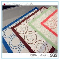 Custom Printing Silicone baking mat for microwave oven and baking oven