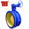 Double Flange Expansion Butterfly Valve with Gearbox & Handwheel