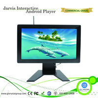 18 inch Wall-mount touchscreen kiosk with SAW touchscreen and metal keyboard