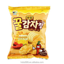 China company supplies costum printing pakcaging materials for fried powder flavor potato chips bag wholesale
