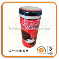Decorative Round Tin Metal Box For Coffee