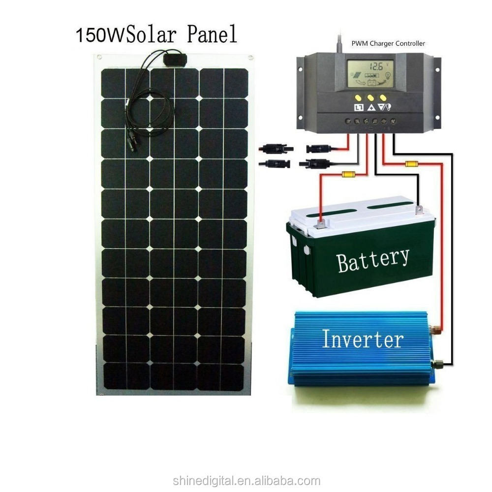 High efficiency Sun power Solar Panels 100W 120W 150W Semi Flexible Solar Panel