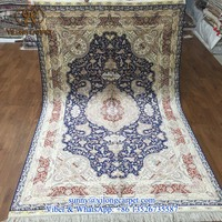 popular blue 5x8ft oriental handmade persian handknotted silk rug and carpet