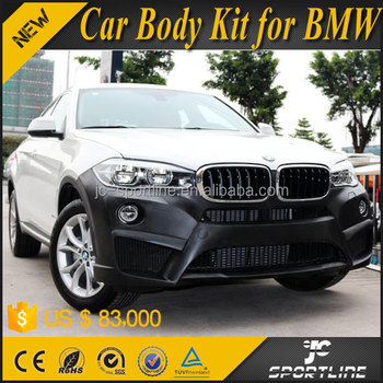 JC Style PP Car Boyd Kit for BMW X6 with Front Rear Bumper Side Skirts 2015 2016