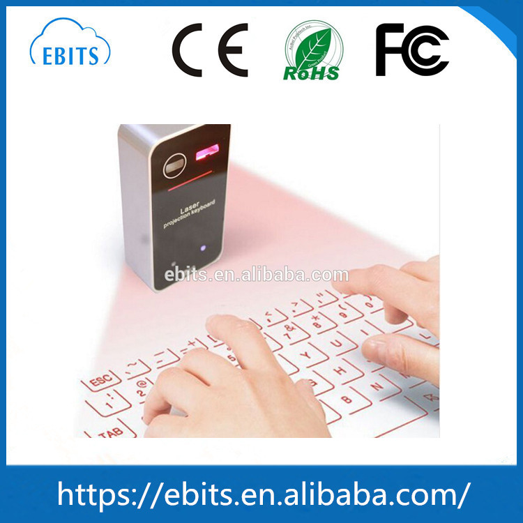 Wholesale new styles bluetooth mini cube laser projection keyboard