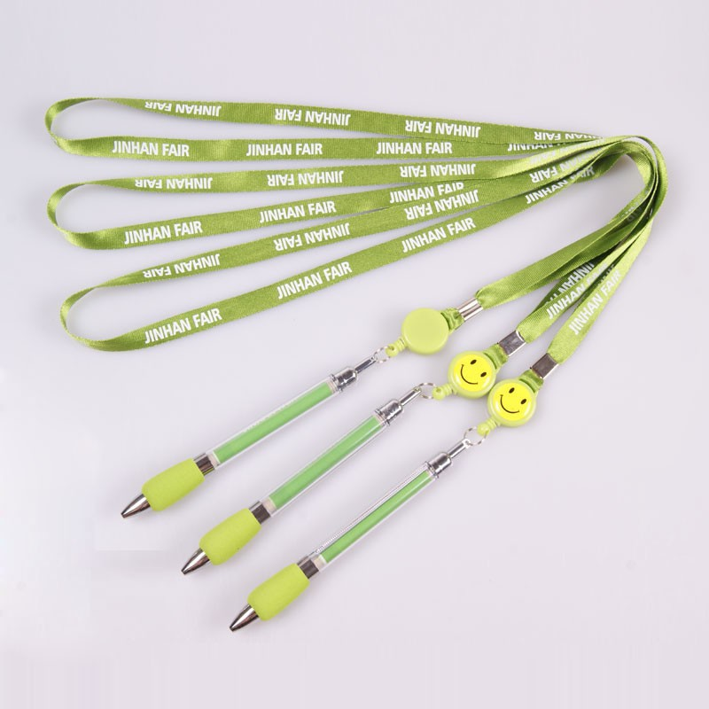 Cute cheap custom silk screen printing nylon pen holder lanyard