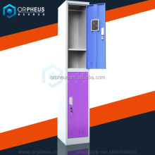 Two-Piece Closet School Locker Different Color Metal Armoire