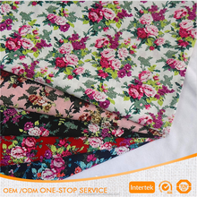 Digital floral cotton poplin printed fabric in stock