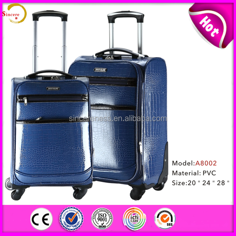 pu colourful assoda trolley&luggage bag hot pu luggage sets leather boarding bag made in China
