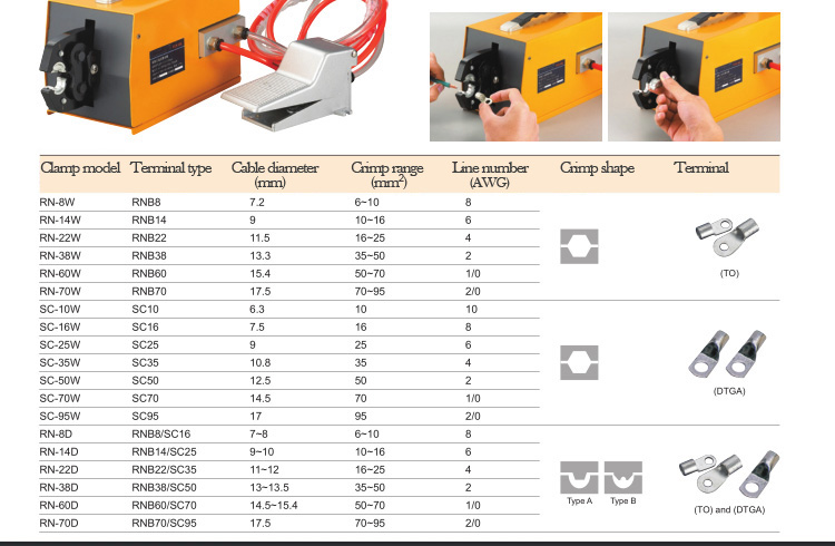 FEK-90L pneumatic type terminal crimping machine
