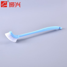 Multi-use long handle pp plastic cleaning brush corner cleaning tools curved toilet brush