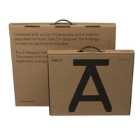 Custom Special Paper box Cardboard Kraft Box With Plastic Handle For Documents Or Files Paper Briefcase