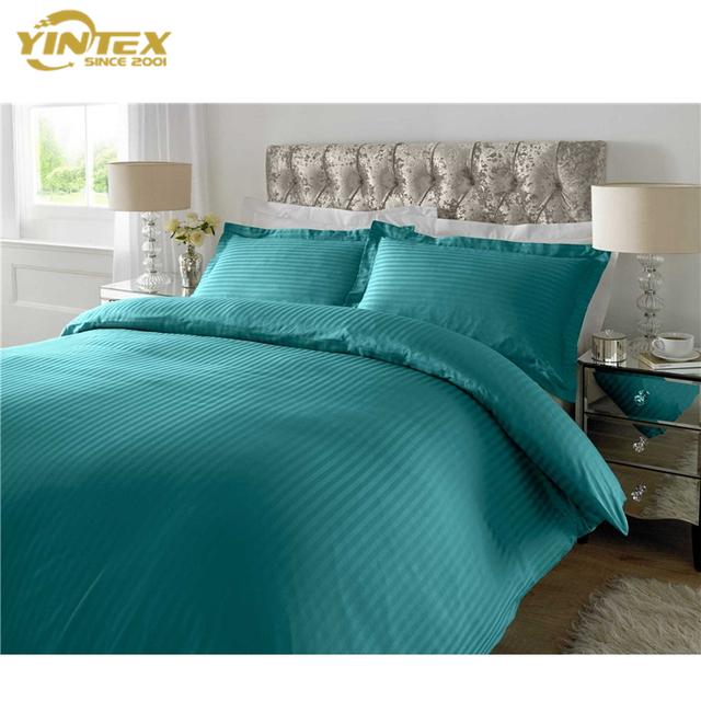 Hotel Luxury Cotton Bedding Set Full Size Customized Bed Sheets