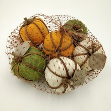 White orange brown green twine foam halloween pumpkin