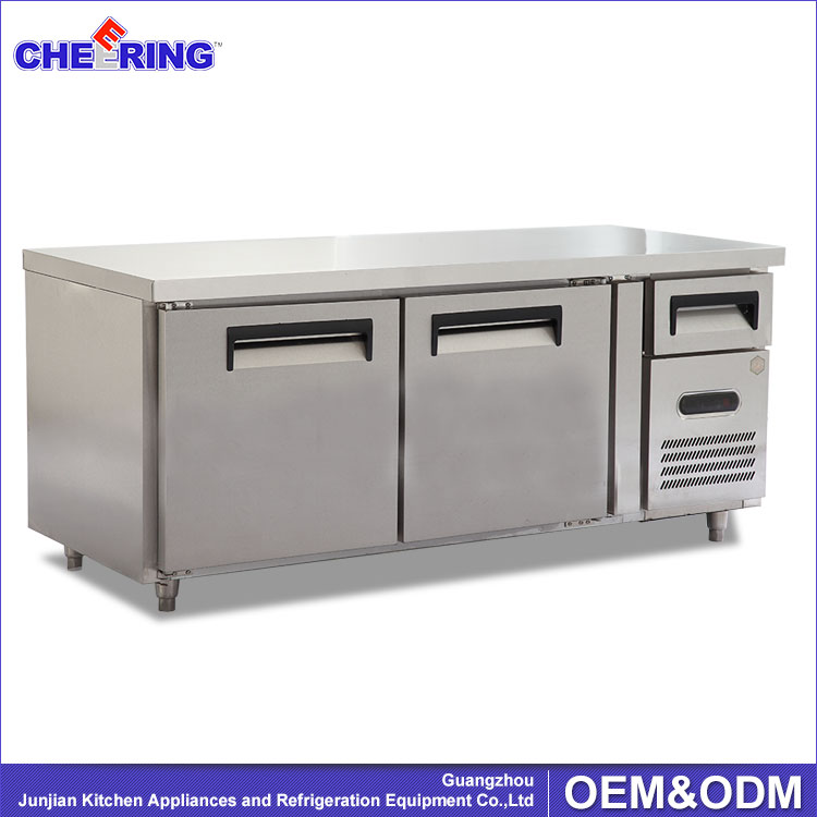 Restaurant Kitchen Fridge table top fridge / restaurant prep tables / refrigerated table